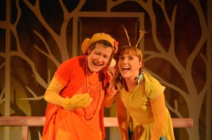 From L-R Erika Poole as Woman and Josie Cerise as girl - tutti frutti YTR Monday's Child 2 - Photo by Brian Slater